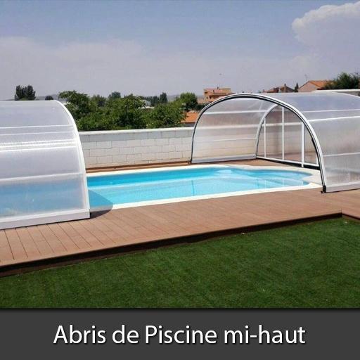 Abri de piscine mi-haut Nord Pas-de-Calais