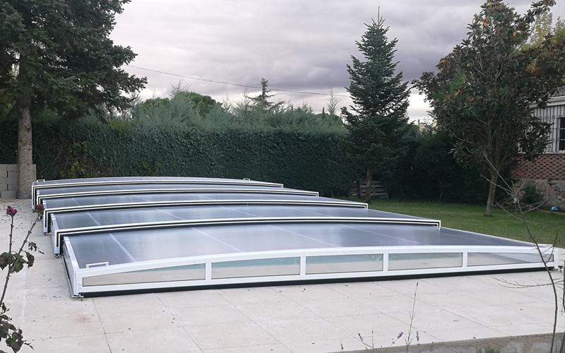 Abri piscine plat télescopique Lille Douai Cambrai