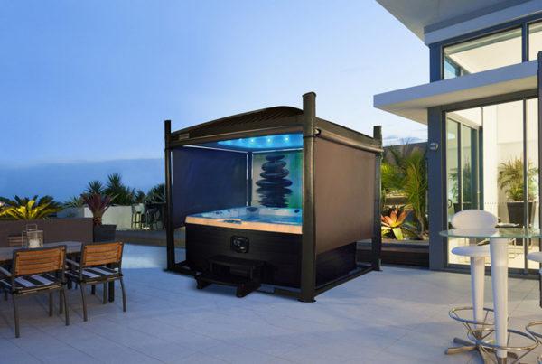Couverture automatique pour spa et jacuzzi