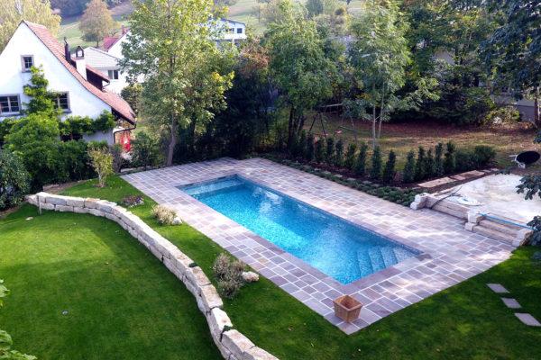 Fabricant piscine traditionnelle extérieure Mérignies Bondues Croix