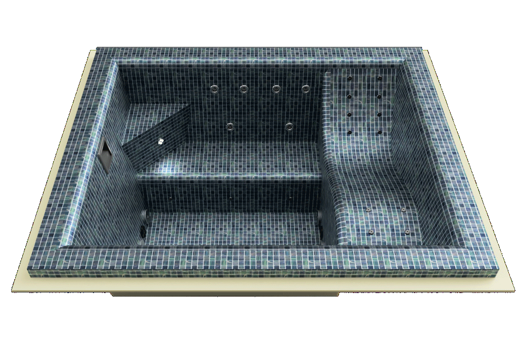Spa mosaique Loundge skimmer