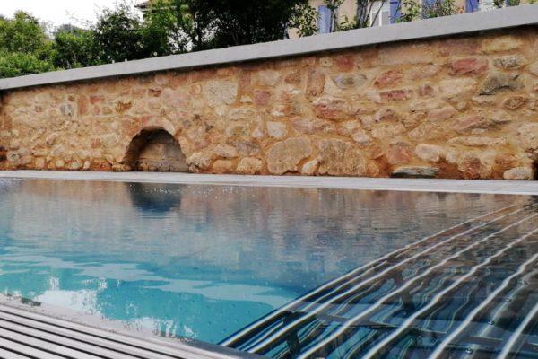 Banquette piscine en tubes Inox 316L